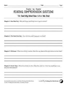 Reading Comprehension Questions | Bad Kitty School Daze