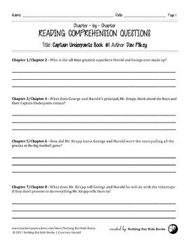 Reading Comprehension Questions | Captain Underpants Book #1