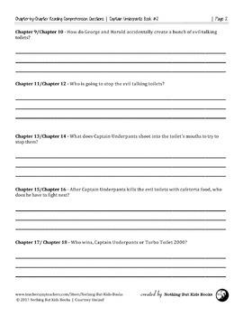 Reading Comprehension Questions | Captain Underpants Book #2