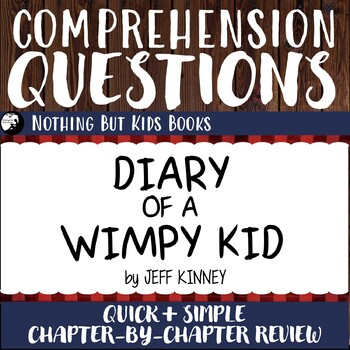 Reading Comprehension Questions Diary Of A Wimpy Kid 1 Tpt