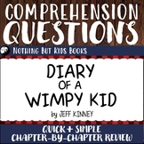 Reading Comprehension Questions   Diary of a Wimpy Kid #1