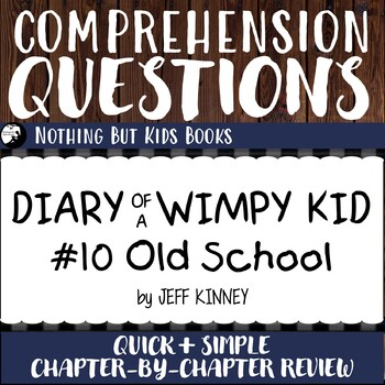 Reading Comprehension Questions | Diary of a Wimpy Kid #10
