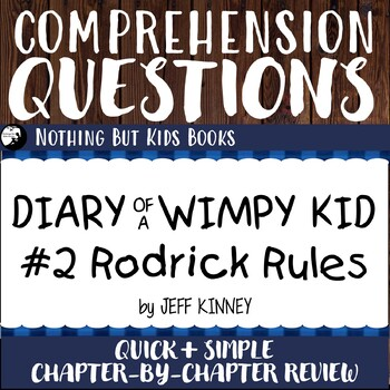 Reading Comprehension Questions Diary Of A Wimpy Kid 2 Rodrick Rules