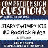 Reading Comprehension Questions for Diary of a Wimpy Kid #2