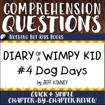 Reading Comprehension Questions | Diary of a Wimpy Kid #4
