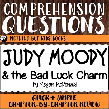 Reading Comprehension Questions for Judy Moody #11