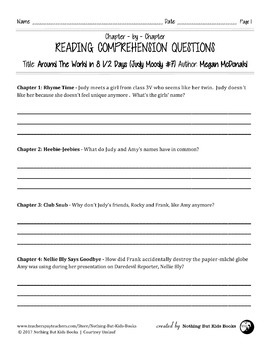 Reading Comprehension Question   Judy Moody #7