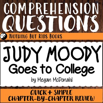 Reading Comprehension Questions | Judy Moody #8