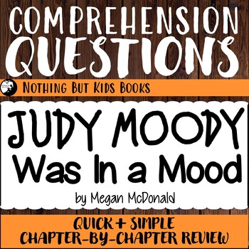 Reading Comprehension Questions | Judy Moody #1