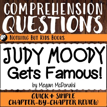 Reading Comprehension Questions | Judy Moody #2