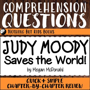 Reading Comprehension Questions for Judy Moody #3
