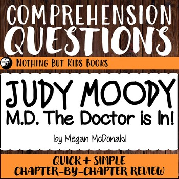 Reading Comprehension Questions | Judy Moody #5