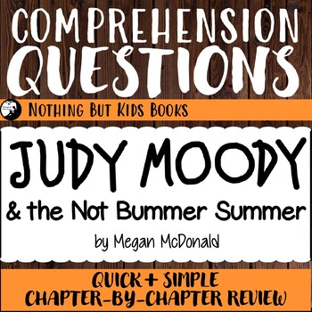 Reading Comprehension Questions | Judy Moody #10