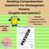Comprehension Questions for Kindergarten Parents Bilingual (English and Spanish)