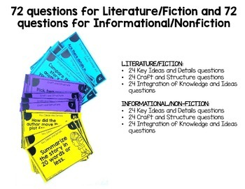 Reading Comprehension Questions for Literature and Informational Text EDITABLE