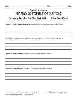 Reading Comprehension Questions | Nancy Clancy #3