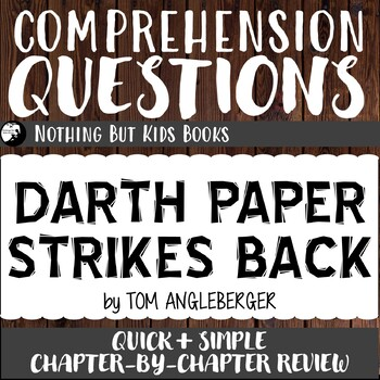 Reading Comprehension Questions for Origami Yoda #2