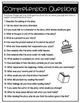 Reading Comprehension Questions for Parents | English and Spanish