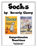 Reading Comprehension Questions for Socks by Beverly Cleary