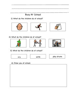 Reading Comprehension Questions with Pictures Using A to Z books