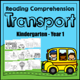 Reading Comprehension: Read & Colour: Transport Themed: Distance Learning