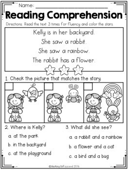 Reading Comprehension Read and Match (GROWING BUNDLE)