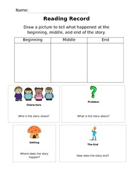 Reading Comprehension Graphic Organizer