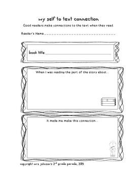 Reading Comprehension Recording Sheets