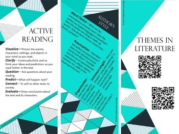 Close Reading Bookmarks for Middle School and High School English Class