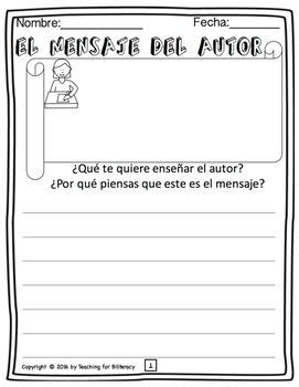 Reading Comprehension Pack (Spanish)