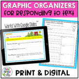 Reading Response Worksheets (Print and Go- Any Text)
