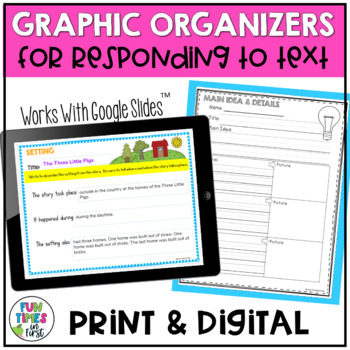 Reading Comprehension Response Pack~ for Literary and Info