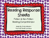 Reading Comprehension Sheets