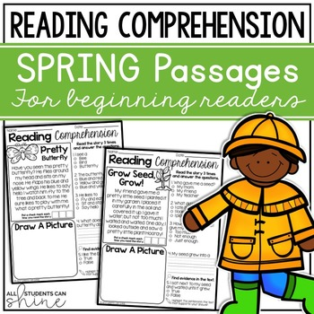 Reading Comprehension Passages ~ Spring Stories