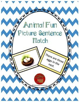 Reading Comprehension Sentence-Picture Match - Animal Fun