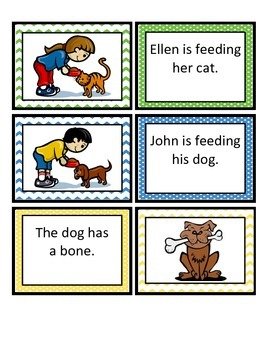 Reading Comprehension Sentence-Picture Match - Cats and Dogs