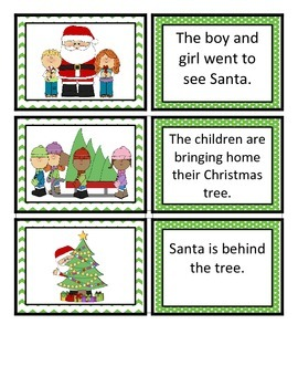 Reading Comprehension Sentence-Picture Match - Christmas Fun