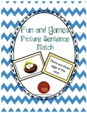 Reading Comprehension Sentence-Picture Match - Fun and Games