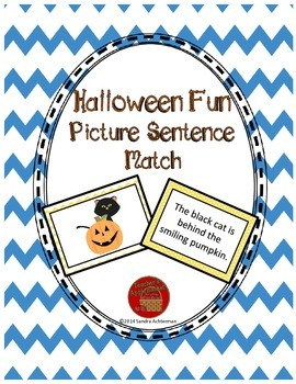 Reading Comprehension Sentence-Picture Match - Halloween Fun