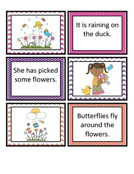 Reading Comprehension Sentence-Picture Match - Seasons Fun