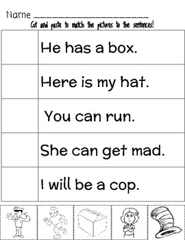 Reading Comprehension Sentence Practice