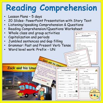 Reading Comprehension, Sentence/Word Work, PowerPoint, Worksheets