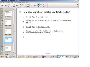 Reading Comprehension Senteo Test, Fiction,Smart board, SOL Test Review