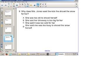 Reading Comprehension Senteo Test, SOL Test Prep , Narrative Elements, Main Idea