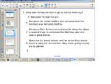 Reading Comprehension Senteo Test, Narrative elements/main idea, smart board SOL