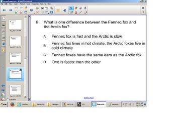 Reading Comprehension Senteo Test, NonFiction Passage, SOL review, main idea