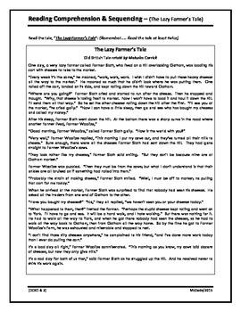 Reading Comprehension Sequencing - Grade 3