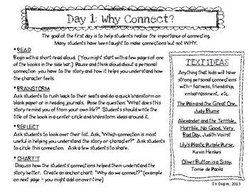 Reading Comprehension: Connections