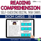 Reading Comprehension (Set 1) - Digital | Boom Cards | Dis