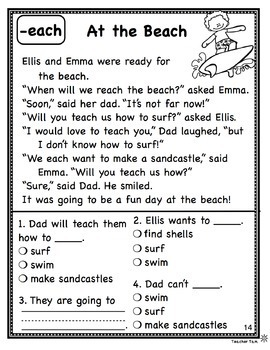 Reading Comprehension Passages and Questions Set 3 Long Vowels